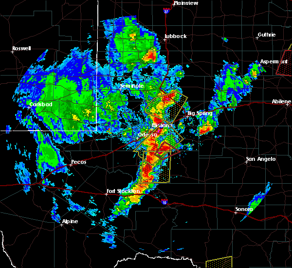 Radar Image for Severe Thunderstorms near Stanton, TX at 3/28/2017 7:10 PM CDT