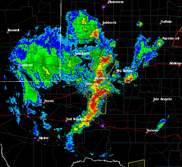 Radar Image for Severe Thunderstorms near Stanton, TX at 3/28/2017 7:19 PM CDT