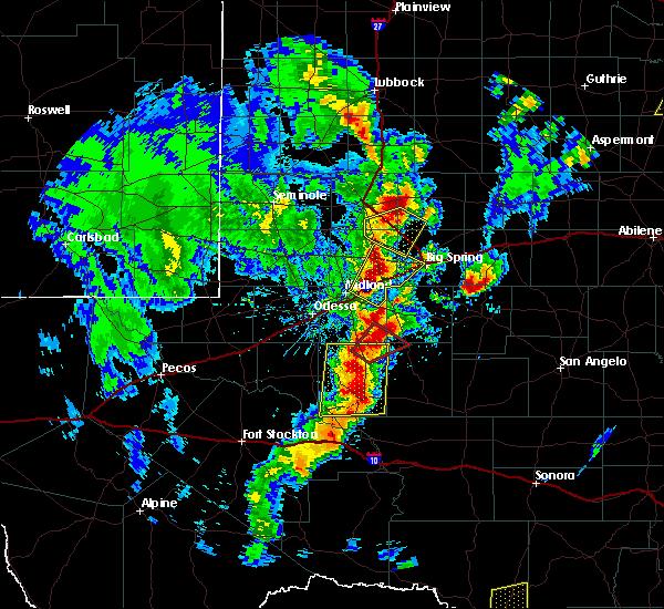 Radar Image for Severe Thunderstorms near Stanton, TX at 3/28/2017 7:29 PM CDT