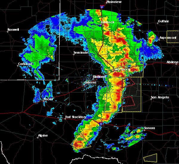 Radar Image for Severe Thunderstorms near Sanderson, TX at 3/28/2017 8:21 PM CDT