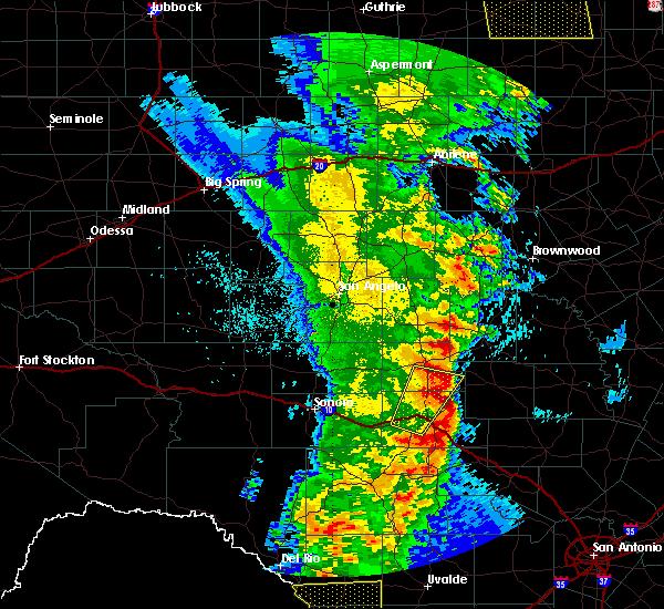 Radar Image for Severe Thunderstorms near Junction, TX at 3/28/2017 11:30 PM CDT