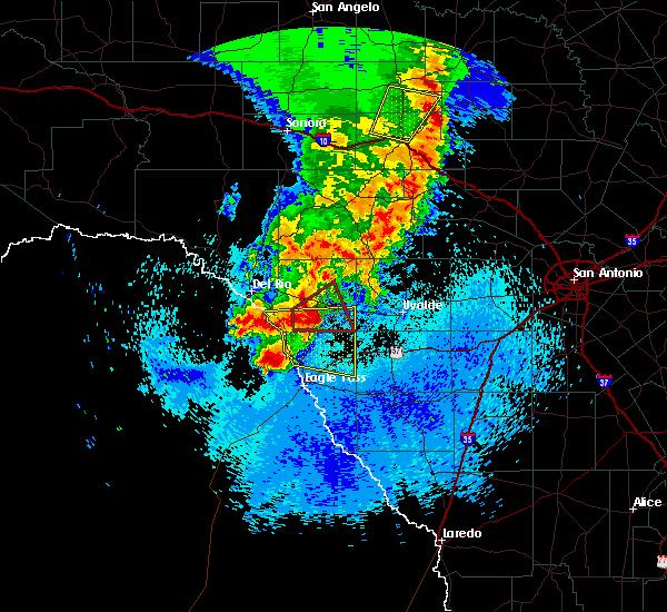 Radar Image for Severe Thunderstorms near Ingram, TX at 3/28/2017 11:36 PM CDT