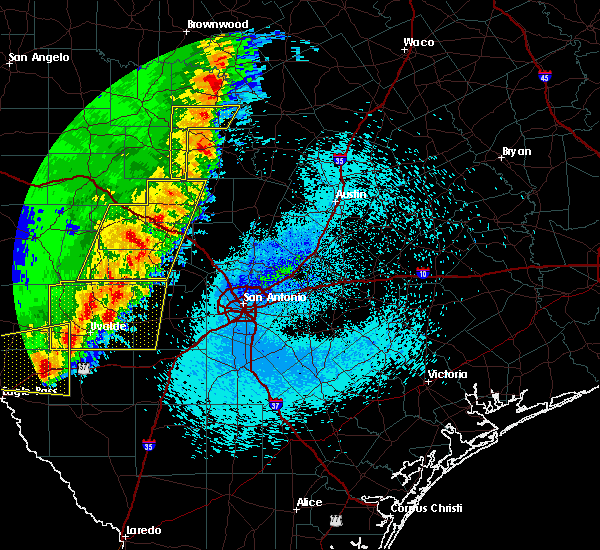Radar Image for Severe Thunderstorms near Lakehills, TX at 3/29/2017 12:28 AM CDT