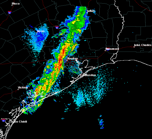 Radar Image for Severe Thunderstorms near Pasadena, TX at 3/29/2017 10:34 AM CDT