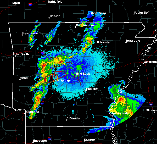 Radar Image for Severe Thunderstorms near Ola, AR at 3/29/2017 10:35 PM CDT