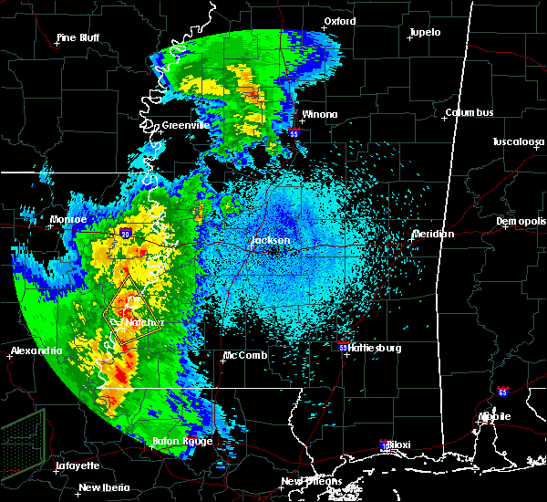 Radar Image for Severe Thunderstorms near Fayette, MS at 3/29/2017 11:09 PM CDT