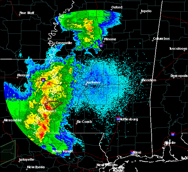 Radar Image for Severe Thunderstorms near Fayette, MS at 3/29/2017 11:18 PM CDT