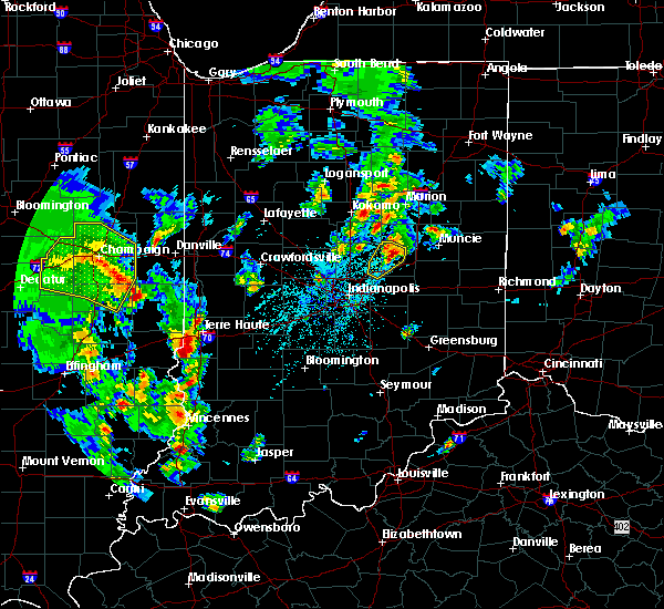 Radar Image for Severe Thunderstorms near Otterbein, IN at 3/30/2017 5:39 PM EDT
