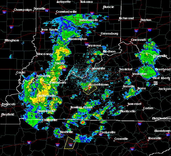 Radar Image for Severe Thunderstorms near Bardstown, KY at 3/30/2017 8:39 PM EDT