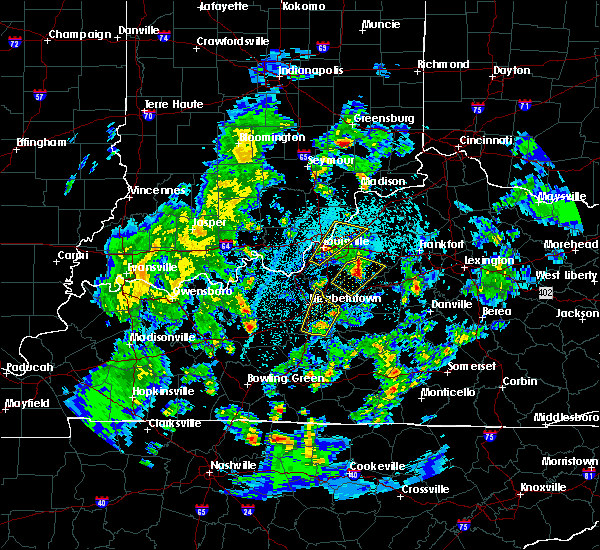 Radar Image for Severe Thunderstorms near Jeffersonville, IN at 3/30/2017 9:25 PM EDT
