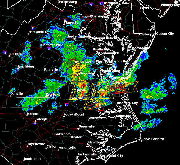 Radar Image for Severe Thunderstorms near Chesapeake, VA at 3/31/2017 6:34 PM EDT