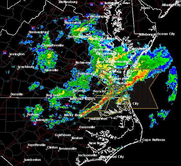Radar Image for Severe Thunderstorms near Chesapeake, VA at 3/31/2017 7:50 PM EDT