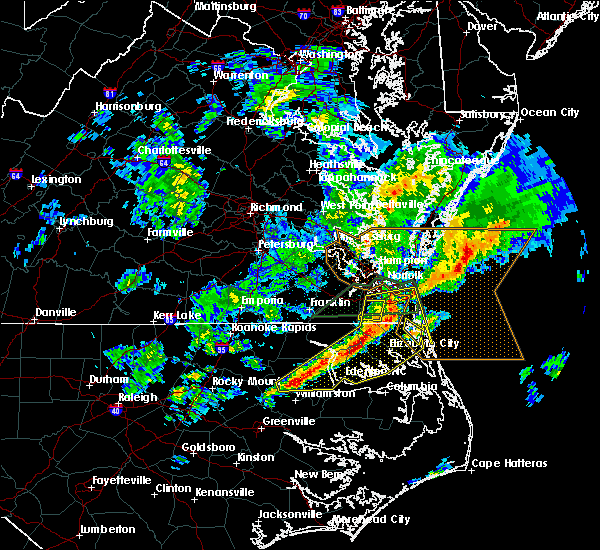 Radar Image for Severe Thunderstorms near Chesapeake, VA at 3/31/2017 7:59 PM EDT