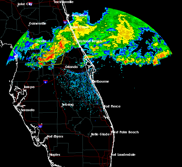 Radar Image for Severe Thunderstorms near Sorrento, FL at 4/4/2017 1:17 PM EDT