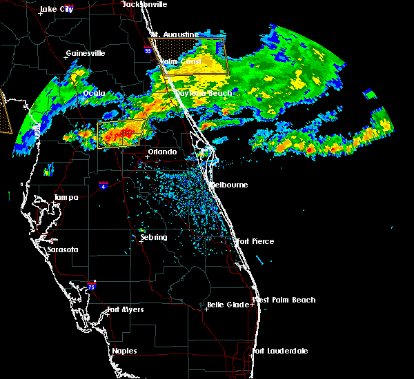 Radar Image for Severe Thunderstorms near Sorrento, FL at 4/4/2017 1:44 PM EDT