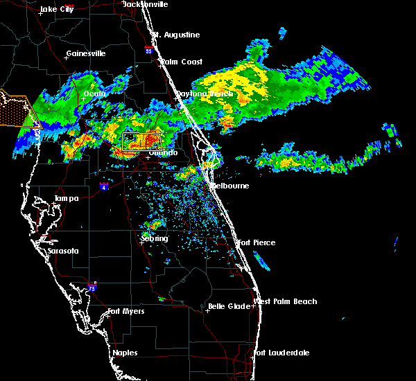 Radar Image for Severe Thunderstorms near Wekiwa Springs, FL at 4/4/2017 2:38 PM EDT