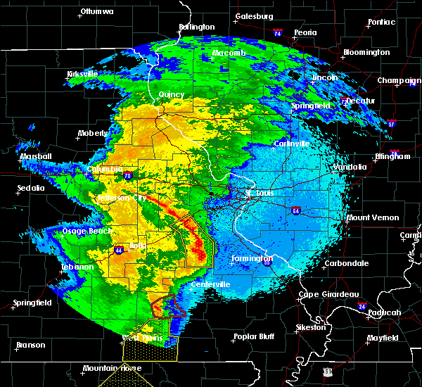 Radar Image for Severe Thunderstorms near Eminence, MO at 4/5/2017 12:02 AM CDT