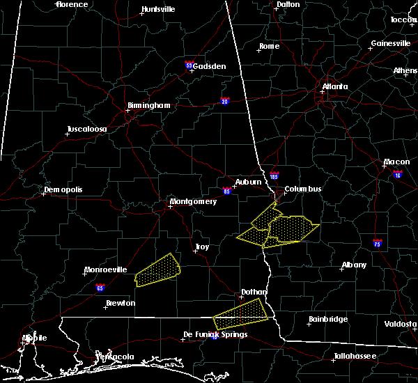 Radar Image for Severe Thunderstorms near Columbus, GA at 4/5/2017 2:48 AM CDT