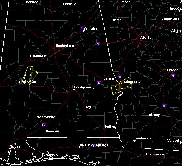 Radar Image for Severe Thunderstorms near Columbus, GA at 4/5/2017 4:55 AM EDT