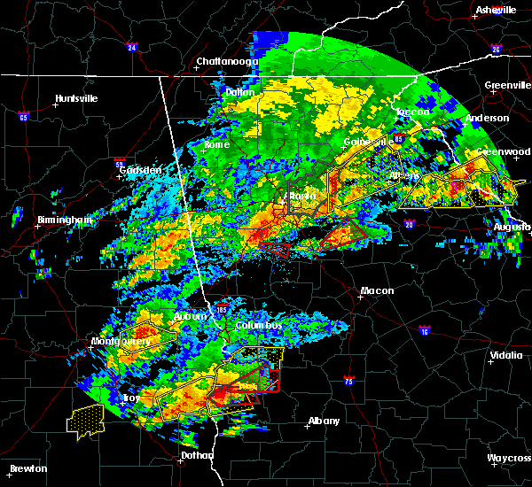 Radar Image for Severe Thunderstorms near Jackson, GA at 4/5/2017 12:15 PM EDT
