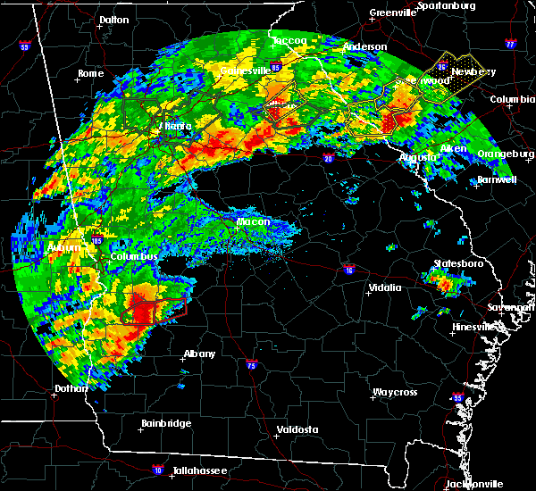 Radar Image for Severe Thunderstorms near Plains, GA at 4/5/2017 12:57 PM EDT