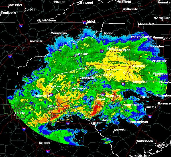 Radar Image for Severe Thunderstorms near Arnoldsville, GA at 4/5/2017 1:19 PM EDT
