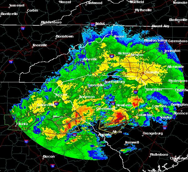 Radar Image for Severe Thunderstorms near Arnoldsville, GA at 4/5/2017 1:41 PM EDT