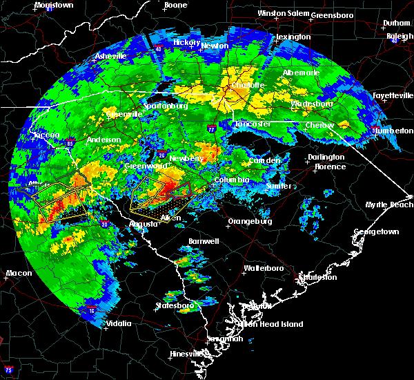 Radar Image for Severe Thunderstorms near Johnston, SC at 4/5/2017 1:41 PM EDT