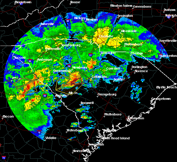 Radar Image for Severe Thunderstorms near Prosperity, SC at 4/5/2017 1:47 PM EDT