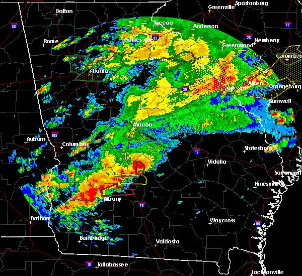 Radar Image for Severe Thunderstorms near Ashburn, GA at 4/5/2017 2:42 PM EDT
