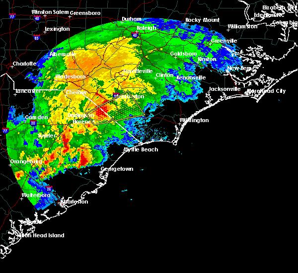 Radar Image for Severe Thunderstorms near Andrews, SC at 4/5/2017 5:15 PM EDT