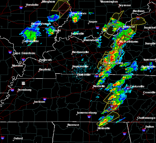 Radar Image for Severe Thunderstorms near Oakland, KY at 4/5/2017 4:31 PM CDT
