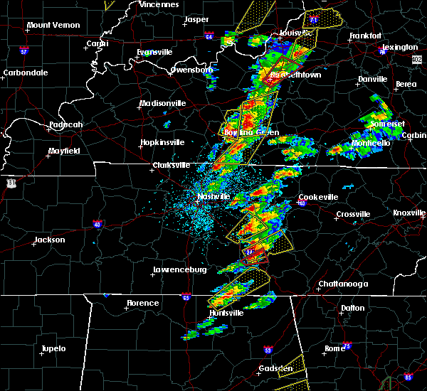 Radar Image for Severe Thunderstorms near Scottsville, KY at 4/5/2017 4:35 PM CDT