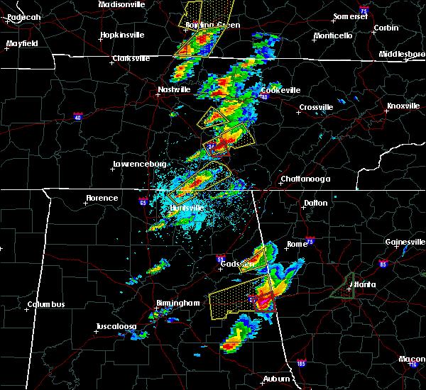 Radar Image for Severe Thunderstorms near Hillsboro, TN at 4/5/2017 4:38 PM CDT