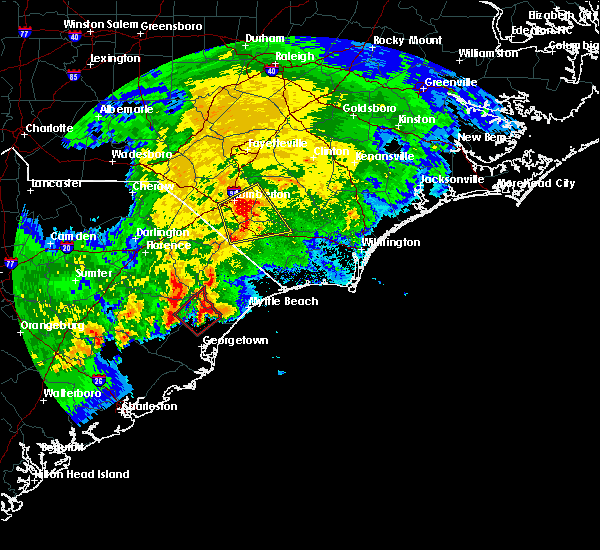 Radar Image for Severe Thunderstorms near Orrum, NC at 4/5/2017 5:48 PM EDT