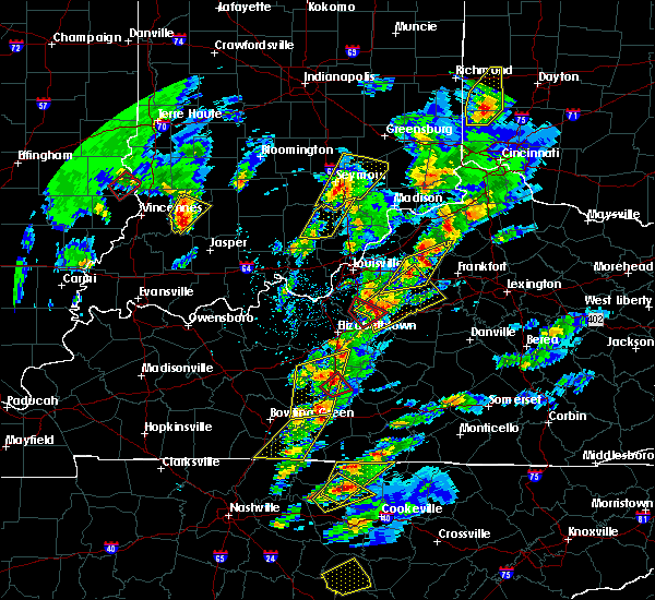 Radar Image for Severe Thunderstorms near Eminence, KY at 4/5/2017 5:54 PM EDT