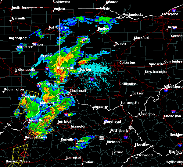 Radar Image for Severe Thunderstorms near Seven Mile, OH at 4/5/2017 5:54 PM EDT