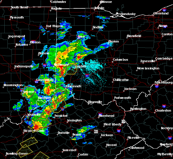 Radar Image for Severe Thunderstorms near Dayton, OH at 4/5/2017 6:04 PM EDT