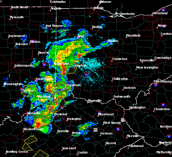 Radar Image for Severe Thunderstorms near Dayton, OH at 4/5/2017 6:11 PM EDT