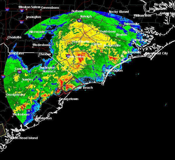 Radar Image for Severe Thunderstorms near Bucksport, SC at 4/5/2017 6:11 PM EDT