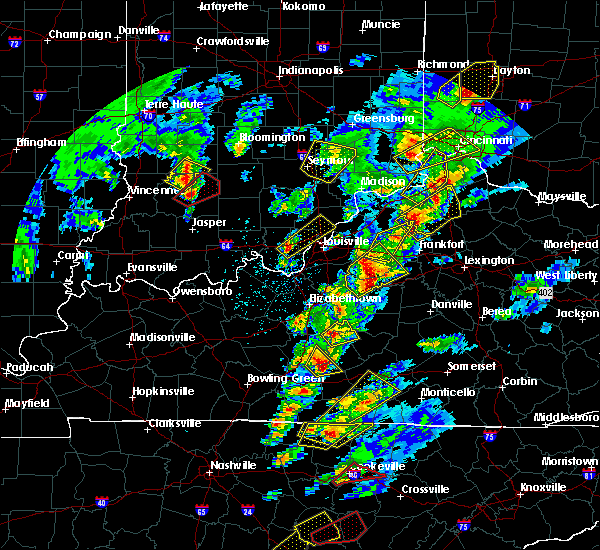 Radar Image for Severe Thunderstorms near Greenville, IN at 4/5/2017 6:14 PM EDT