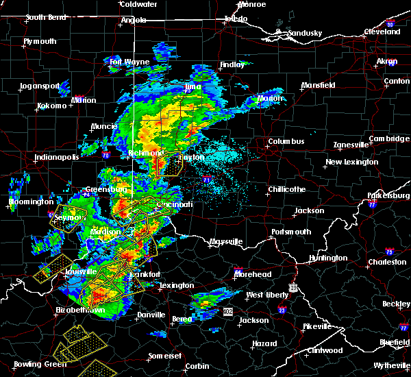 Radar Image for Severe Thunderstorms near Cincinnati, OH at 4/5/2017 6:17 PM EDT