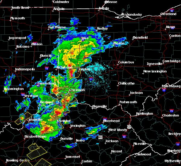 Radar Image for Severe Thunderstorms near Cincinnati, OH at 4/5/2017 6:21 PM EDT