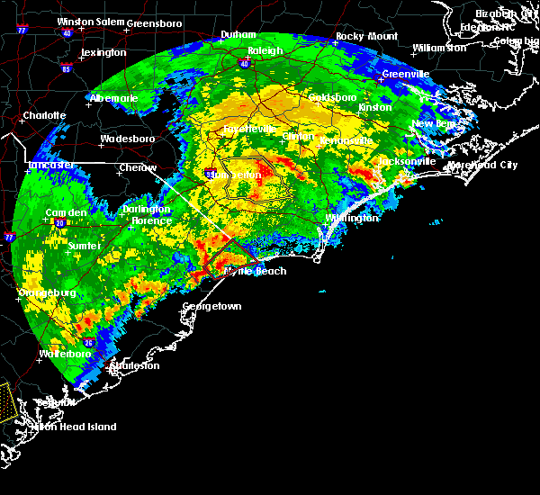 Radar Image for Severe Thunderstorms near Atlantic Beach, SC at 4/5/2017 6:24 PM EDT