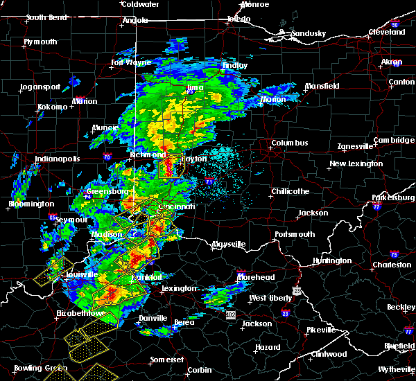 Radar Image for Severe Thunderstorms near Cincinnati, OH at 4/5/2017 6:27 PM EDT