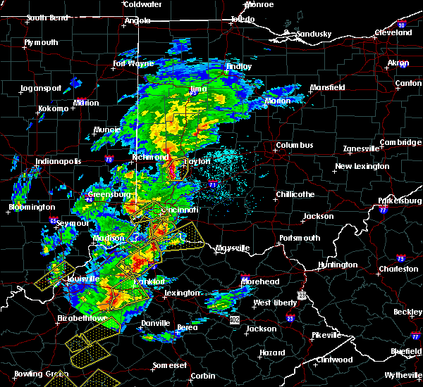 Radar Image for Severe Thunderstorms near Greenhills, OH at 4/5/2017 6:31 PM EDT