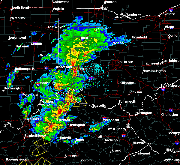 Radar Image for Severe Thunderstorms near Cincinnati, OH at 4/5/2017 6:32 PM EDT