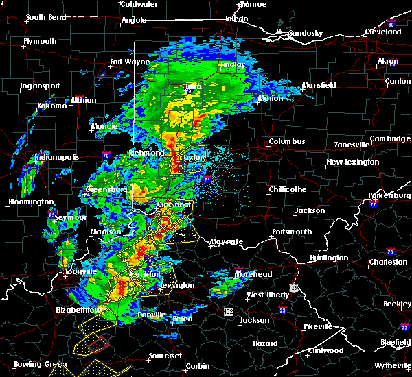 Radar Image for Severe Thunderstorms near Dayton, OH at 4/5/2017 6:39 PM EDT