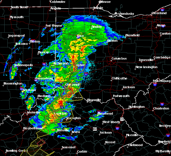 Radar Image for Severe Thunderstorms near Springfield, OH at 4/5/2017 6:45 PM EDT
