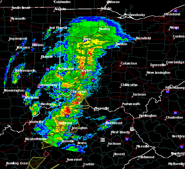 Radar Image for Severe Thunderstorms near Moscow, OH at 4/5/2017 6:55 PM EDT